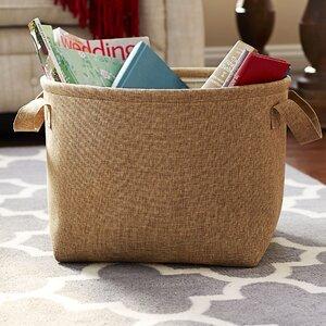 Round Soft Side Burlap Laundry Basket