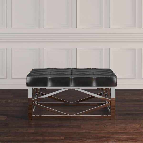 Gilham Faux Leather Ottoman by House of Hampton