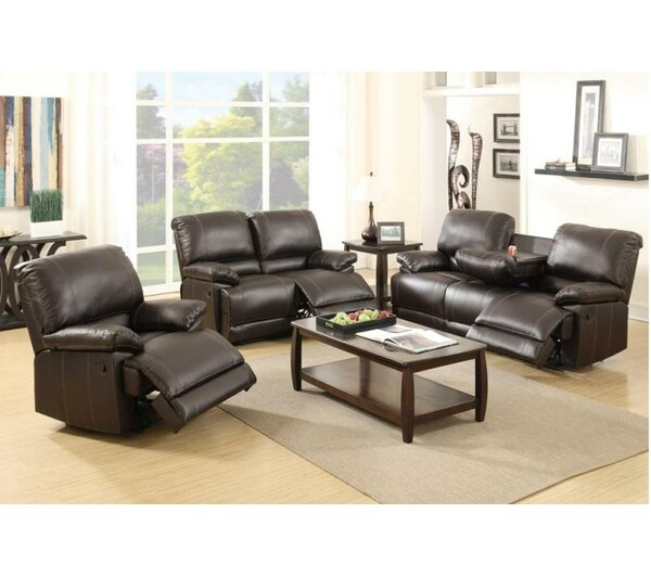 Sandy Reclining 3 Piece Living Room Set by A&J Homes Studio