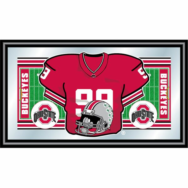 University of Lowa Football Jersey Framed Vintage Advertisement by Trademark Global