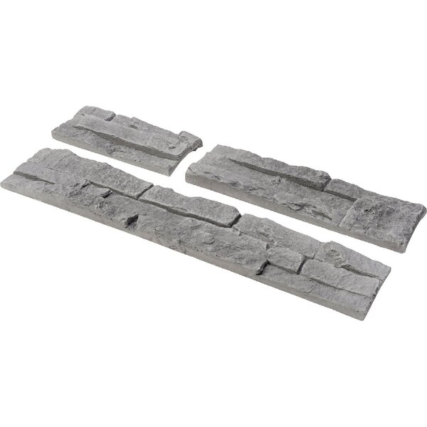 Odyssee Random Sized Manufactured Stone Veneer Wall Tile in Gray (Set of 8) by Stone Design