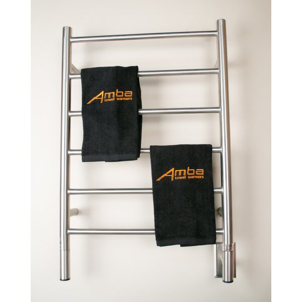 Jeeves Wall Mount Electric J Straight Towel Warmer by Amba