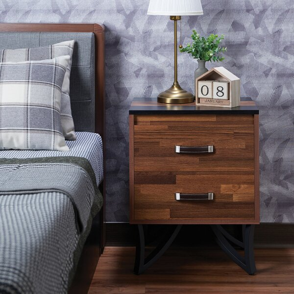 Townsville 2 Drawer Nightstand by Union Rustic