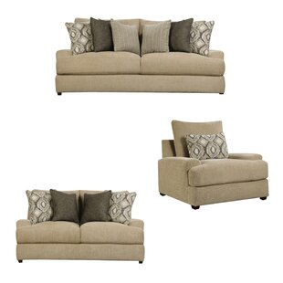 Ewanda 3 Piece Living Room Set by Latitude Run®