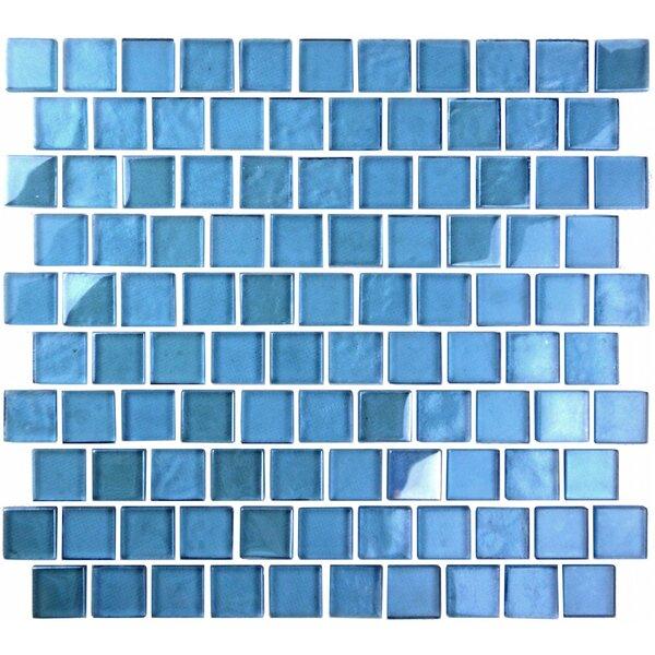 Landscape 1 x 1 Glass Mosaic Tile in Sky Blue by Abolos