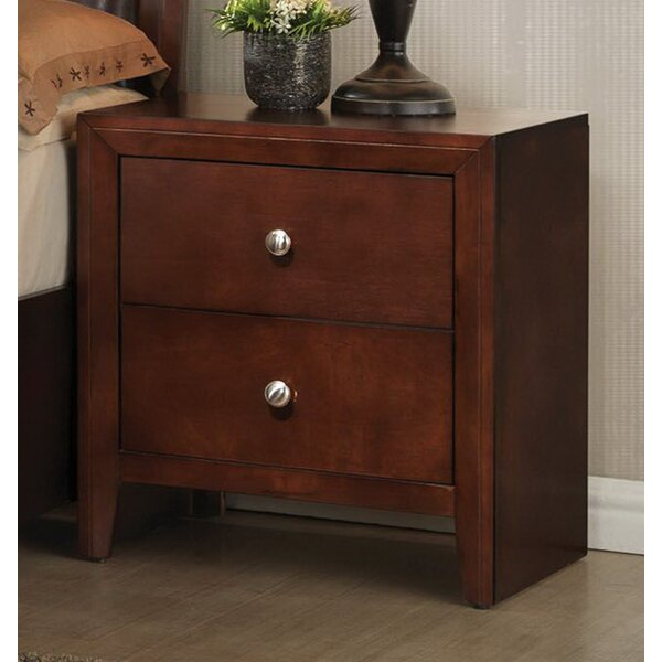 Alexei 2 Drawer Nightstand by Alcott Hill