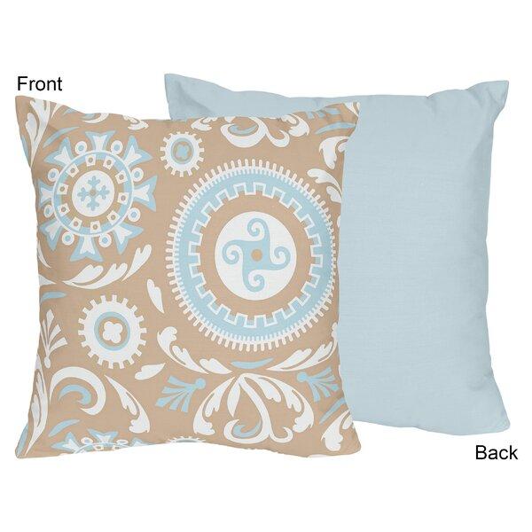 Hayden Cotton Throw Pillow by Sweet Jojo Designs