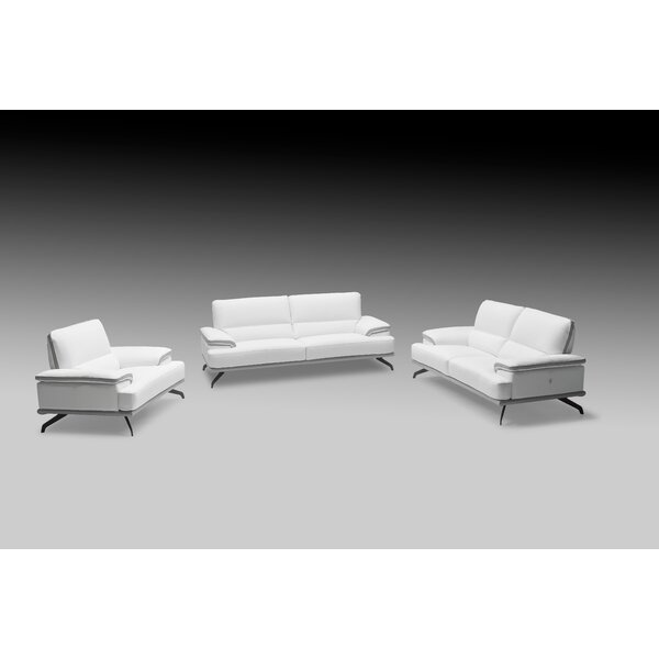 Chesterle 3 Piece Leather Living Room Set by Orren Ellis