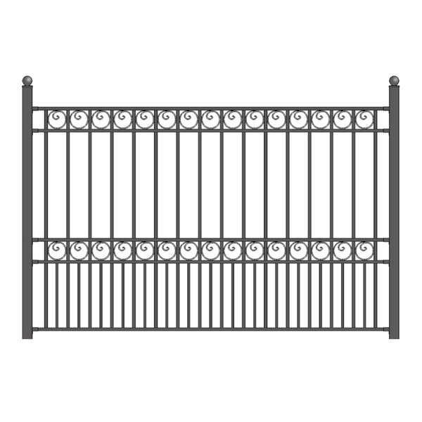 5 ft. H x 5.5 ft. W Paris DIY Unassembled Steel Fence Panel by ALEKO