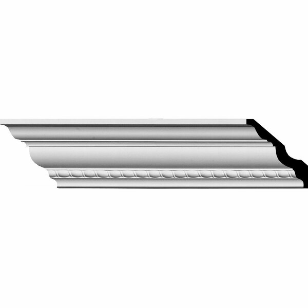 Crendon 3H x 94 1/2W x 3D Bead and Barrel Crown Moulding by Ekena Millwork