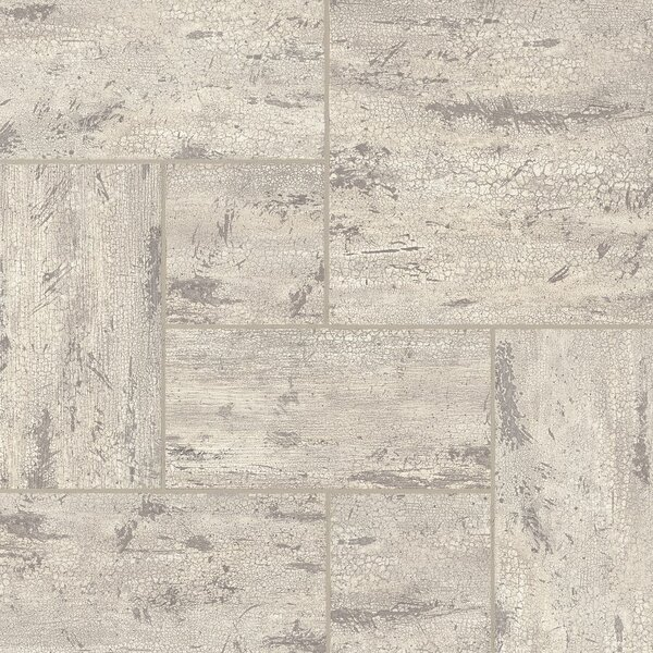 Alterna Reserve Engineered Stone Mosaic Tile in Antiqued Ivory by Armstrong Flooring