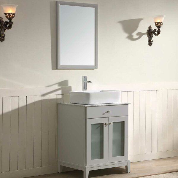 Julie 24 Single Vanity Set with Mirror by Dawn USA