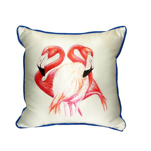 Two Flamingos Indoor/Outdoor Throw Pillow