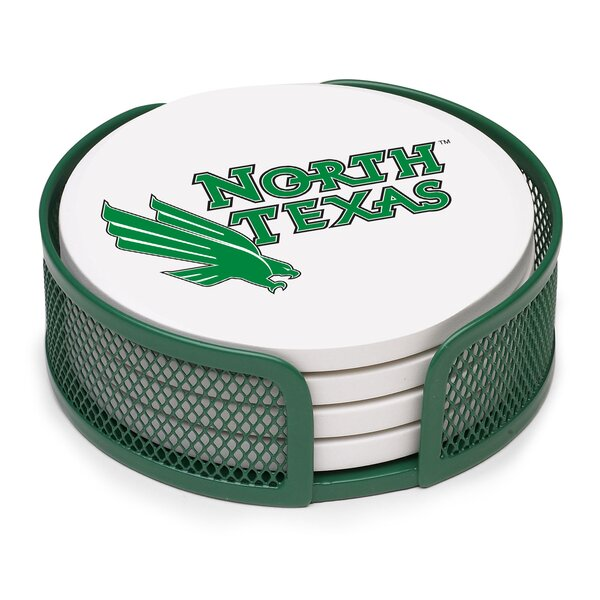 5 Piece North Texas University Collegiate Coaster Gift Set by Thirstystone