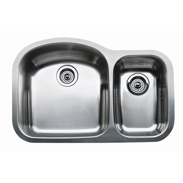 Wave 31.5 L x 20.88 W Plus Bowl Undermount Kitchen Sink by Blanco