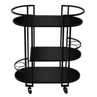Michaella Contemporary Metal Framed Bar Cart