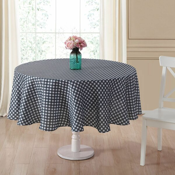 Danh Round Plaid Fabric Tablecloth by August Grove