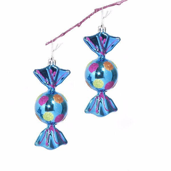 5 Shatterproof Handpainted Shiny Candy Christmas Ornament by The Holiday Aisle