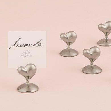 Swish Heart Place Card Holders (Set of 8) by Weddingstar