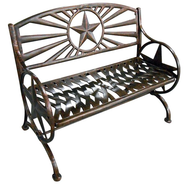 Lorraine Metal Garden Bench by August Grove August Grove