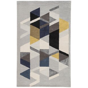 Cephas Hand-Tufted Wool Gray Area Rug by George Oliver