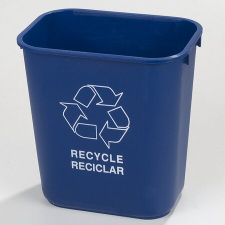 Rectangle 3.33 Gallon Recycling Bin (Set of 12) by Carlisle Food Service Products