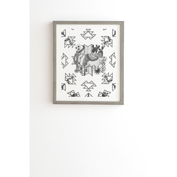 Arrlo the Buffalo Framed Graphic Art by East Urban Home