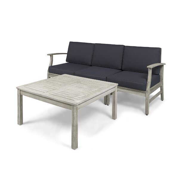 Gianni Outdoor 4 Piece Sofa Seating Group with Cushions by Foundry Select