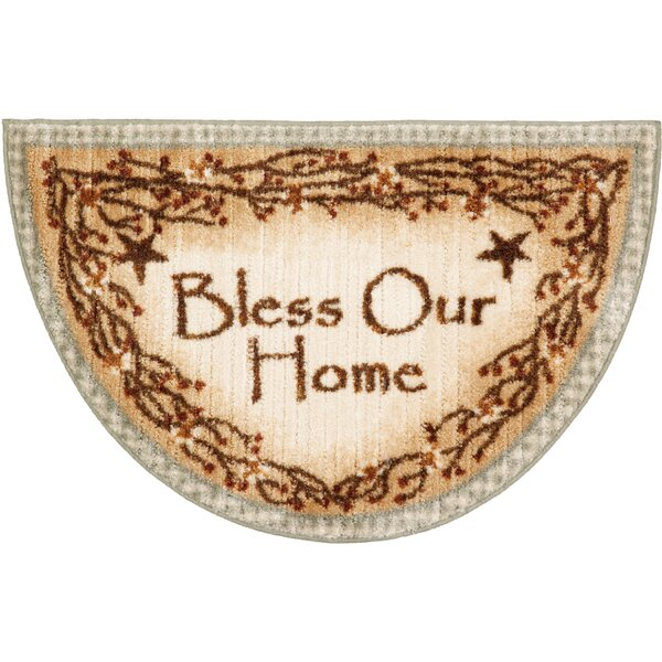 Berry Blossoms Blessing Kitchen Brown Novelty Rug by Brumlow Mills