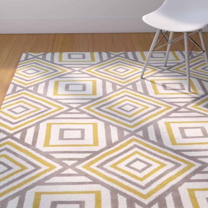 langley street noam hand-tufted beige/gray/yellow area rug