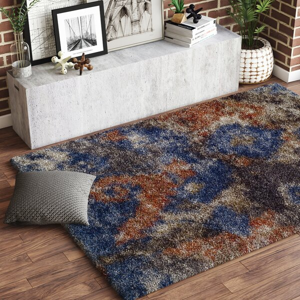 Zhora Blue/Brown Area Rug by 17 Stories