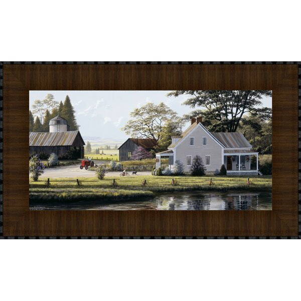 The Red Tractor by Bill Saunders Framed Photographic Print by Tangletown Fine Art