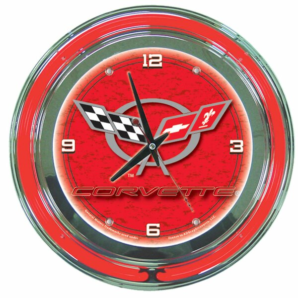 14 Corvette C5 Wall Clock by Trademark Global