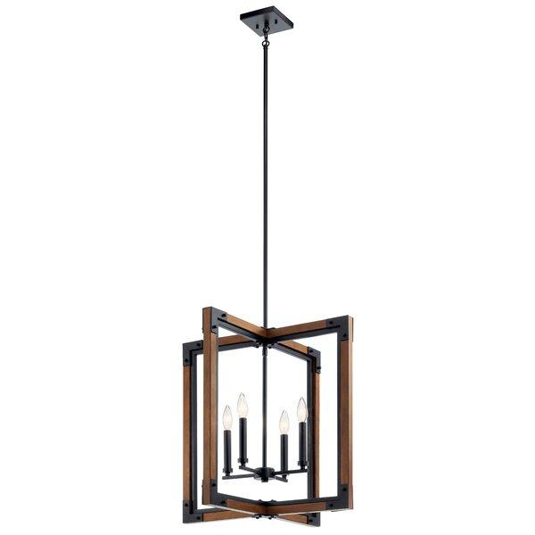 Stringfellow 4 - Light Lantern Square Chandelier By Gracie Oaks