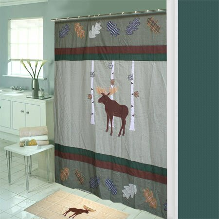 Lorraine Moose Cotton Shower Curtain by Millwood Pines