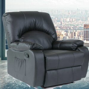Latitude Run Modern Style Vibrating Heated Massage Chair