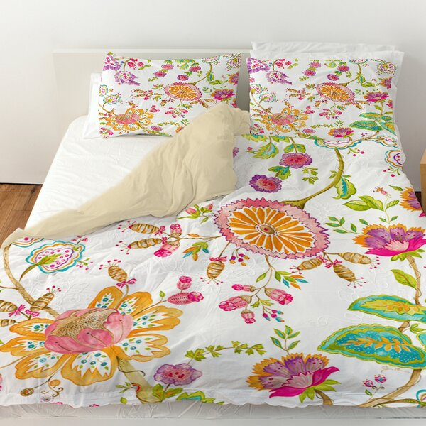 White Anima Duvet Cover by Manual Woodworkers & Weavers