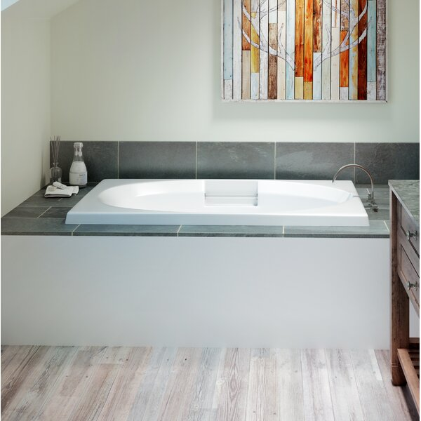 Nova Left-Hand Heater 60 x 42 Drop in Whirlpool Bathtub by Jacuzzi®