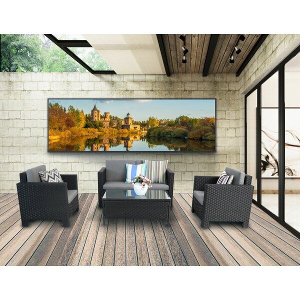 Lucille 4 Piece Rattan Sofa Seating Group with Cushions by Brayden Studio