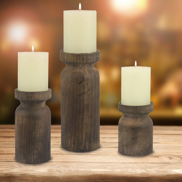Wood/Metal Candlestick by Union Rustic
