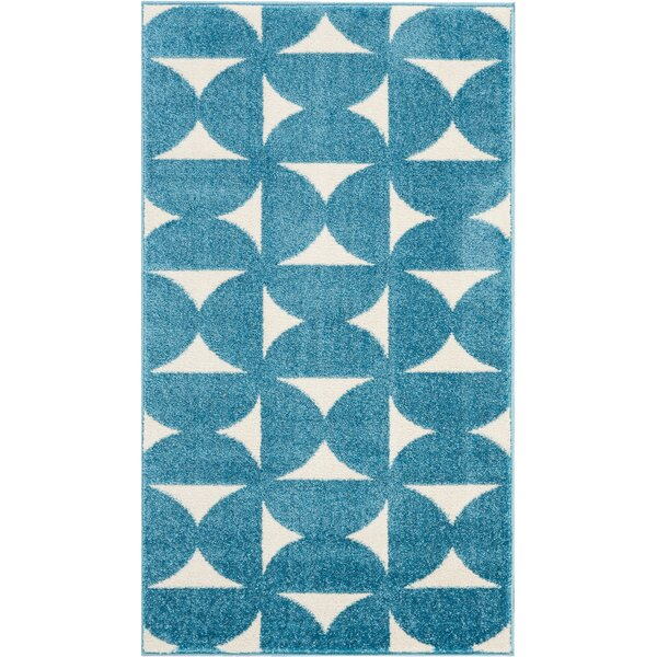 Petrina Blue Area Rug by Wrought Studio