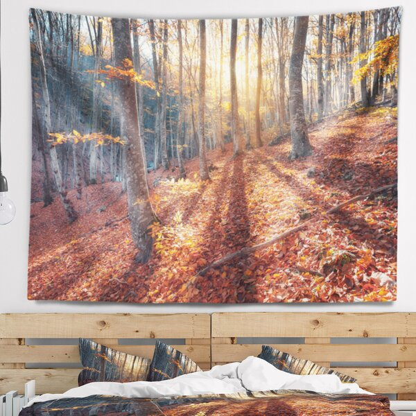 Landscape Photography Crimean Mountains Tree Shade Tapestry and Wall Hanging by East Urban Home