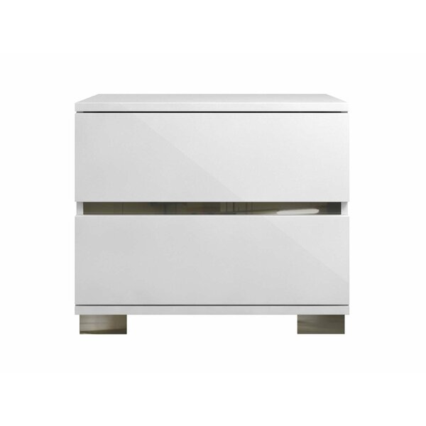 Phillips 2 Drawer Nightstand by Wrought Studio