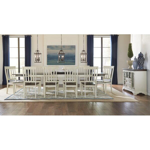 Aguero 11 Piece Extendable Solid Wood Dining Set by Canora Grey Canora Grey