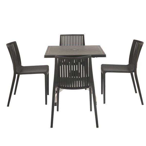 Weingarten Commercial Grade 5 Piece Dining Chair Set by Ebern Designs