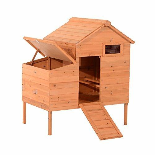 Outdoor Raised Leg Wooden Chicken Coop by Pawhut