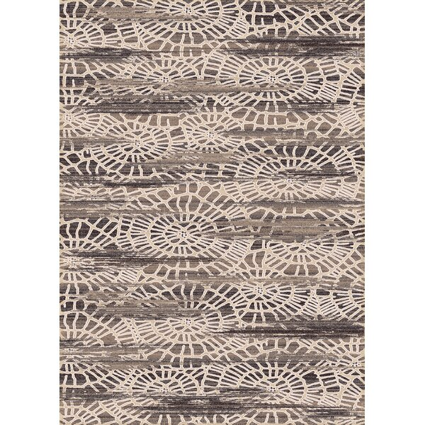Bridgeview Cream Abstract Area Rug by World Menagerie