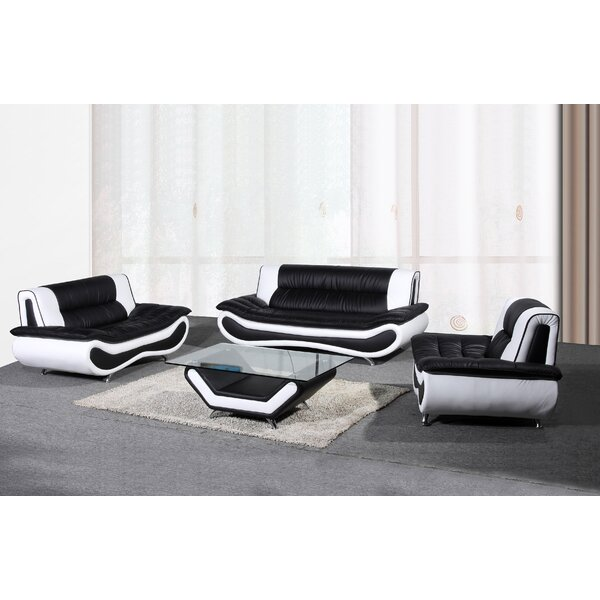 Corbitt 3 Piece Living Room Set by Ebern Designs