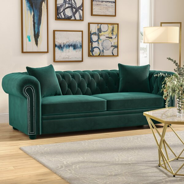 Beautiful Modern Heathfield Chesterfield Sofa by Mercer41 by Mercer41