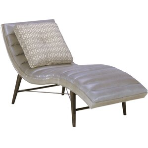 mandragore leather chaise lounge